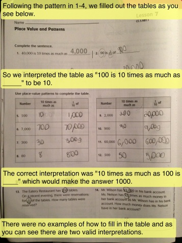 example of math workbook page