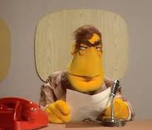 newscaster muppet
