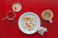 empty coffee cup and plate