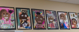 Corgill 5th grade self portraits