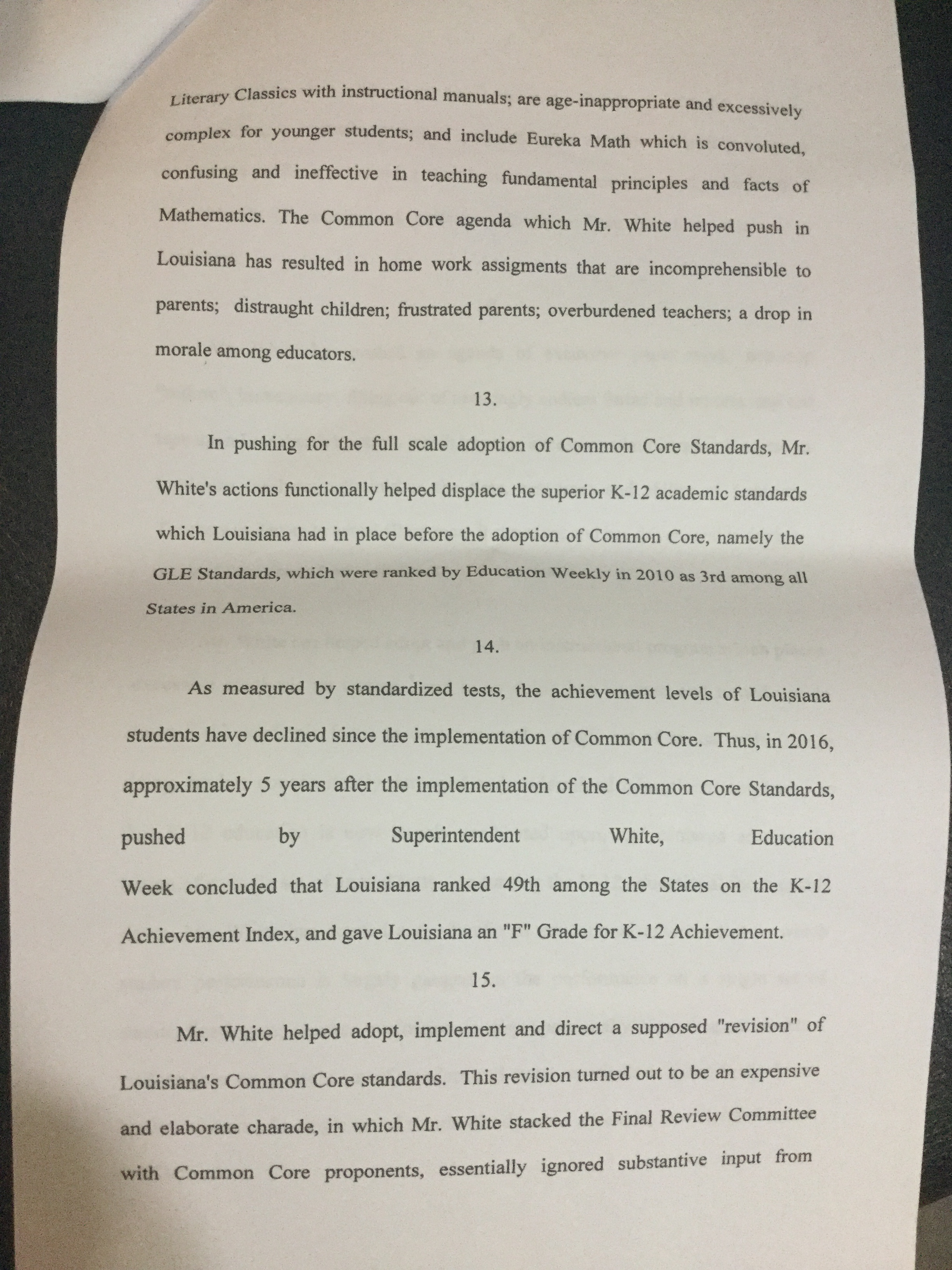More on the lawsuit that could oust la ed supt john white page 6 1betcityfo Images