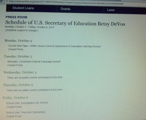 DeVos schedule 10-02-17b
