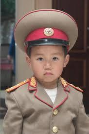 north korea child in uniform
